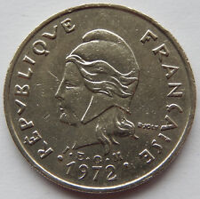 1972 French Polynesia 20 Francs Coin  SB5266