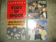 THE JACKSONS..LOT  4 X45T SP..BODY/TORTURE/STATE OF SHOCK/SHOW YOU THE WAY TO GO