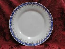 """Custom Porcelain Royal Blue on White with Gold: Dinner Plate (s) 10"""""""