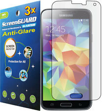 3x Anti-Glare Screen Protector Samsung Galaxy S5 i9600 SM-G900 G900M G900H G900F