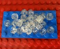 LEGO Bulk City Plate Round 1x1 Trans Clear* (x25) Plate Studs Bricks Town Lights