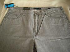 Claiborne Mens 100% Cotton Gray Clean Fit Denim Pants Sz 40/32