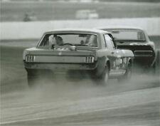 Vintage 8X10 Auto Racing Photo 1967 Daytona Yeager Mustang & Fisher Camaro