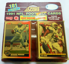 101 SCORE 1991 Footbal CARDS Sealed Various NFL PLAYERS Series 2 McGWIRE etc.