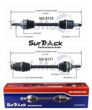 For Mazda Protege 99-01 FWD Pair of Front CV Axle Shafts SurTrack Set Std Trans