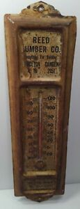 Antique Advertising Sign Thermometer Reed Lumber Princeton Camden NJ