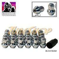 20+4 LOCK GORILLA LARGE SEAT OEM OE STOCK WHEELS LUG NUTS 14X1.5 M14 RIMS CHROME