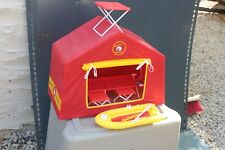 Vintage Baywatch Beach Tent Toy Display Setup with Boat & Others A2