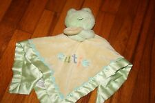 Carters Just One Year Frog Cutie Rattle Baby Security Blanket Yellow Green Lovey