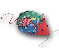 Ratoncito forma Pin Cojín-Rojo Azul Verde Estilo Retro-Niños Regalo de costura