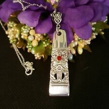 Coronation 1936 Silver Plate  Flatware Silverware Necklace vtg spoon birthstone