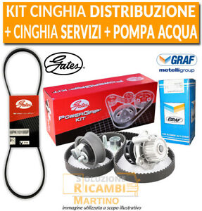 Kit Cinghia Distribuzione + Pompa Acqua + Servizi PEUGEOT 307 1.6 HDi 110 80 KW