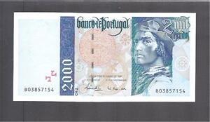 Portugal p-189c , UNC, 2000 Escudos, 1997