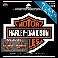 """Harley Davidson Decal Licensed Bar and Shield  Sticker 12 sizes 2"""" to 48"""" 400204"""