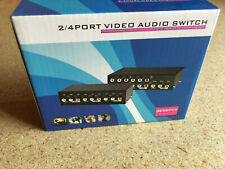 RCA 2X1 2 In 1 Out 2 Way Port 3-RCA AV Audio Video Switcher Switch Selector Box