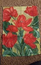 "Poppies Garden Flag Decorative Floral Flowers 13"" x 18"""