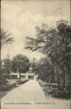 Lake Worth FL In Front of Poinciana Hotel c1910 Postcard
