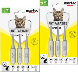 martec PET CARE Spot On Katze 6x1ml Zecken Tropfen gegen Flöhe Zecken Milben