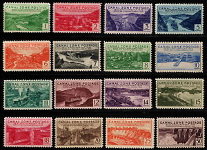 Canal Zone - 1939 - 25th Anniversary Opening of Panama Canal # 120 - # 135 Mint
