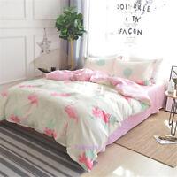 Pink Flamingo Single/Double/Queen/King Bed Quilt/Duvet/Doona Cover Set Cotton
