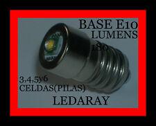 BOMBILLA LED, PARA CUALQUIER LINTERNA CON (BASE E10) 3,4,5y6 CELDAS (PILAS).