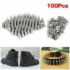 100X Aleación de Metal Bullet Spikes Studs Studded Point Studs Cono Punky Gótico