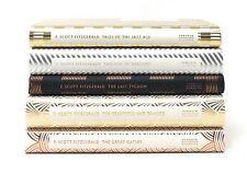 F Scott Fitzgerald / Set of 5 Decorative Art Deco F Scott Fitzgerald Classics