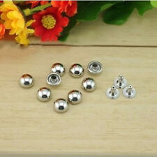 200pcs 6x6mm Stainless Steel Mushroom Round Spike Rivet Stud Punk LeatherCraft