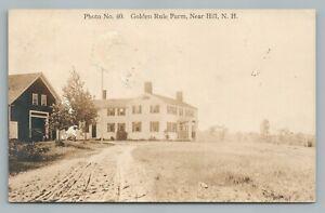 Golden Rule Farm HILL New Hampshire RPPC Merrimack County NH Antique Photo 1921
