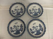 C4 Pottery Booths Real Old Willow - Set of 4 Plates 26.5cm (TWO CHIPPED) 1B5G