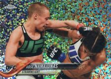 2018 Topps UFC Chrome ROSE NAMAJUNAS Diamond Hot Box Refractor Card #28