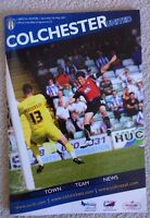 Colchester United V Bristol Rovers, Football programme, League 1 match, 7/5/11