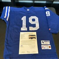 Johnny Unitas Signed Authentic Baltimore Colts Vintage Throwback Jersey JSA COA