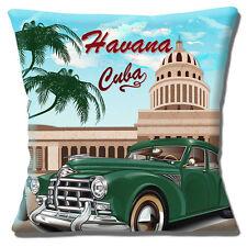 "NUOVA SCENA HAVANA CUBA GREEN Classic Car Palme 16"" CUSCINO COVER"