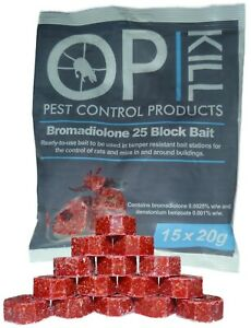 Opkill Rat & Mouse Killer Poison Bait Professional Strength Blocks