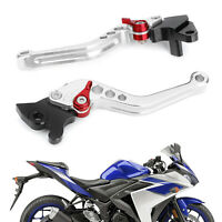 Brake Clutch Levers Fits YAMAHA YZF-R15 2008-2014 Silver