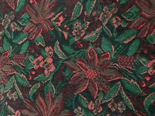 """Crate & Barrel Holiday Poinsettia Table Runner Cotton 13"""" x 72"""" Christmas Dining"""