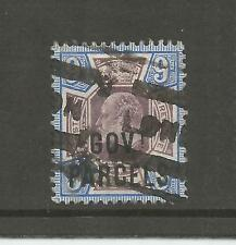 GOVERNMENT PARCELS 1902 9d DULL PURPLE & ULTRAMARINE USED SG O77 REF 792
