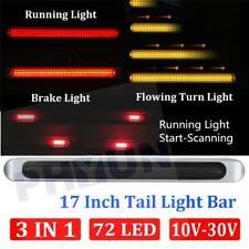 """3IN1 72LED 17"""" Truck Trailer Stop Flowing Turn Scanning Tail Braking Light Bar"""