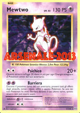 CARTA POKEMON - MEWTWO - RARA HOLO 51/108 (EVOLUTIONS) NUOVA MINT