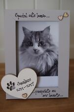 Personalised Photo Frame by Filly Folly! Cat Frame! 6x4''