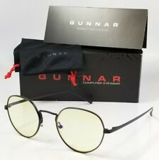 NEW GUNNAR INFINITE GAMING GLASSES onyx black amber computer blue light eyewear