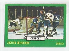 1973-74 OPC #143 JOCELYN GUEVREMONT VANCOUVER CANUCKS O-PEE-CHEE