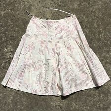 "SUZUYA ""Cream & Pink"" Tear Drop Women's Short Fashion Skirt (Size L)"