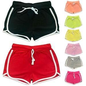 Girls Kids Plain Shorts Hot Pants Cotton Dance Gym Summer Holiday Sports School