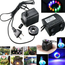 Submersible Water Pump with 12 Color LED Light Fountain Pool hydroponic Pond