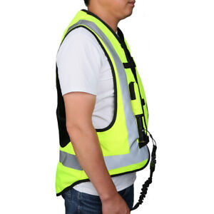 yellow Black Air Bag Airnest Airbag Vest Hi Visibility Size L Motorcycle Racing