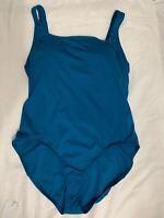 Nike Women's Blue One Piece Bathing Suit Swim Suit Size XLarge