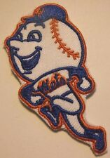 """New York Mets~Mr. Met~Embroidered PATCH~2 7/8"""" x  1 1/2""""~Iron Sew~MLB~Ships FREE"""