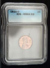 1928-D Lincoln Cent ICG MS64 BN  (C8034)